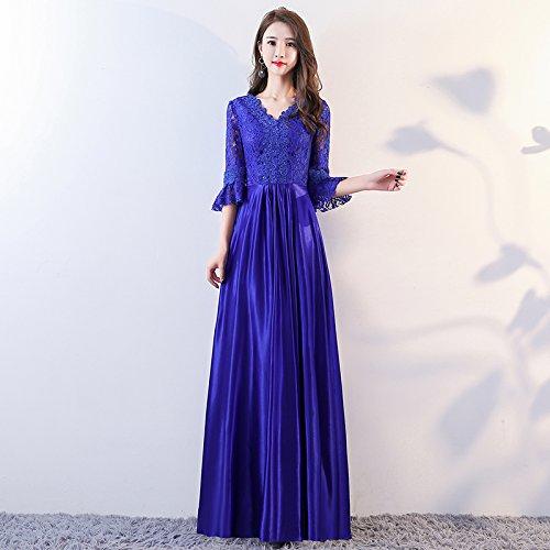 Blue Royal Vestito Sera Abito Da Vestito Femminile Coro JKJHAH Da Da Festa pq6PnBTa