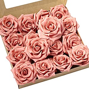 Ling's moment Artificial Flowers 16pcs Sweet Avalanche Roses for DIY Wedding Bouquets Centerpieces Arrangements Party Baby Shower Home Decorations 5