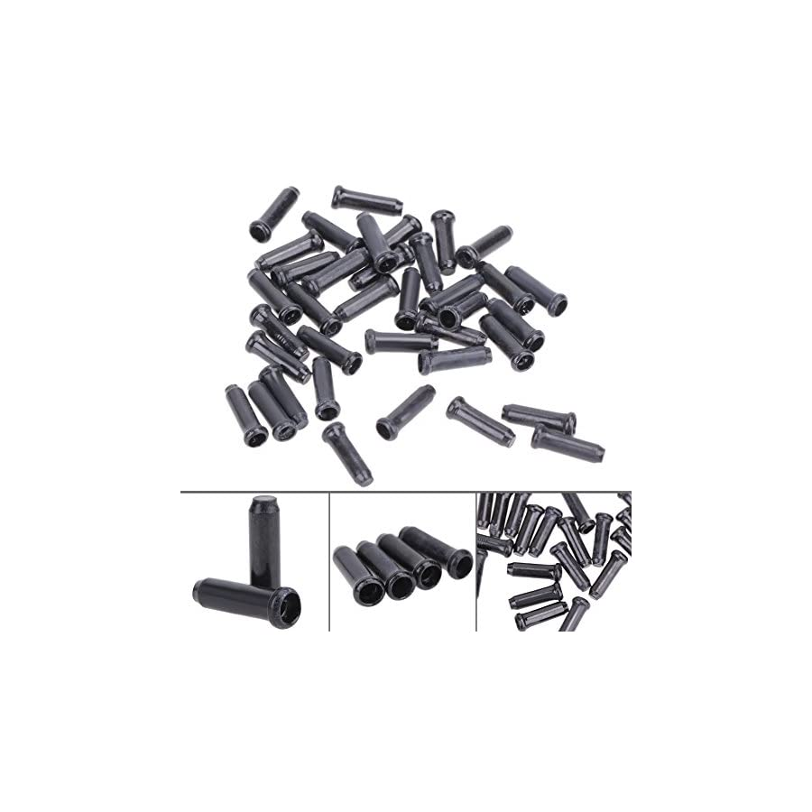 TTnight 50pcs Alloy Bike Brake Shifter Inner Cable Tips Wire End Cap for Bikes and Modified Vehicles