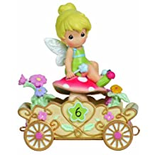 "Precious Moments 104408 Disney Showcase Collection, Birthday Gifts, ""Have A Fairy Happy Birthday"", Disney Birthday Parade, Age 6, Resin Figurine"