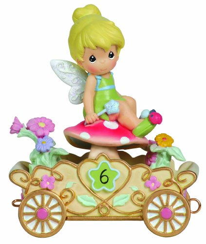 Old World Porcelain (Precious Moments, Disney Showcase Collection,  Have A Fairy Happy Birthday, Disney Birthday Parade, Age 6, Resin Figurine, 104408)