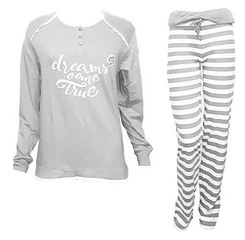 NAZARENO art grigio manica puro largo S lunga 13 giù pigiama donna GABRIELLI cotone zSx7w7q0