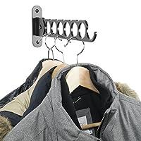 Wallniture Costa Wardrobe Organizer Wall Mounted Clothes Bar - Hanger Holder Organizer - Steel Black 14.5 Inch