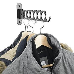 WALLNITURE Wardrobe Organizer Wall Mounted Clothes Bar Steel Black 14.5 Inch