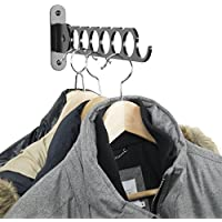 Clothes Hangers Holder - Wall Mount - Great for Baby, Kids, Men & Women Clothing - Perfect for Laundry, Cleaning...