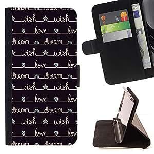 Momo Phone Case / Flip Funda de Cuero Case Cover - Étoiles d'écriture Noir - Samsung Galaxy S3 III I9300