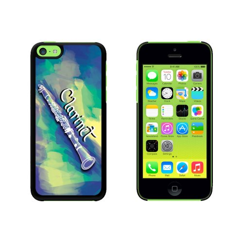 Clarinet - Musical Instrument Music Woodwinds Snap On Hard Protective Case for Apple iPhone 5C - Black