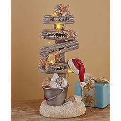 Beach Themed Christmas Ornaments Lighted Christmas Tree with Beach Theme – Seas and Greetings beach themed christmas ornaments