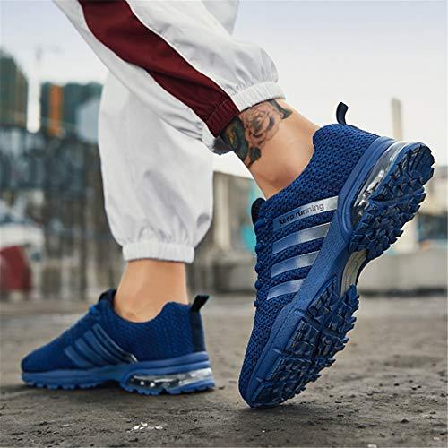 Sportive Ginnastica Fitness da Scarpe Corsa Scarpe Sneakers Sportive da Bravover Corsa Basse 87blue Sneakers Running Uomo OwPqYaXf