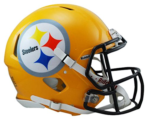 Pittsburgh Steelers Revolution - Riddell NFL Pittsburgh Steelers Full Size Revolution Speed Helmet, Medium, Yellow