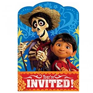 Disney - Pixar COCO movie Postcard Invitations 8 Pack Birthday Party Supplies Day of the Dead