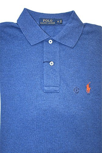 Polo Ralph Lauren Men's Classic-Fit Mesh Short Sleeve Polo Shirt,Beach royal,Small