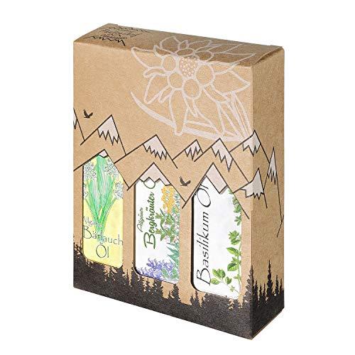Allgäuer Genuss-Box – Feinkost Geschenk-Set – 3 x 100ml feinstes Öl – Allgäuer Delikatessen mit Geschenkverpackung als…