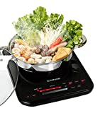 Tatung TIH-F1500SU 1500W Induction Cooktop with Stainless Steel Pot, Black