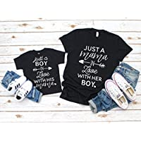 Mommy and Me Shirt Set Mother and Son Matching Shirts Just a Boy in Love with his Mama Shirt Mom Son Matching Shirt Set