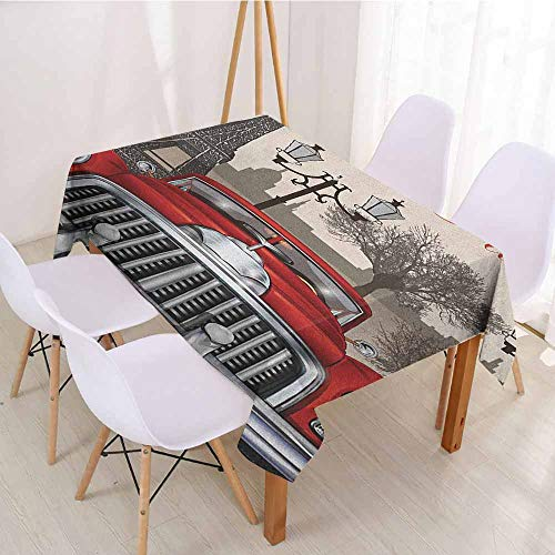 ScottDecor Christmas Tablecloth Table Cover W 60