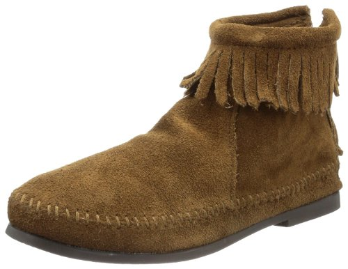 Minnetonka Women's Back Zipper Bootie,Dusty Brown,7 M US