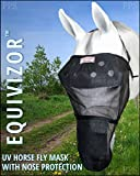 EquiVizor 95% UV Eye Protection Horse Fly Mask w/Nose Protection - Size Full - Superior Protection from UV Rays and Biting Insects. Designed to Stay On Your Horse, Not The Ground