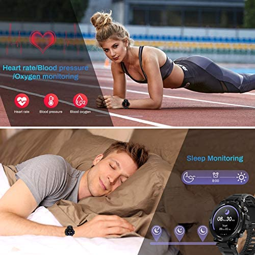 HopoFit Smart Watch for Android Phones iOS,Fitness Tracker for Women Men,Bluetooth IP68 Waterproof Sport Smartwatch for Women Men Heart Rate Sleep Blood Pressure Pedometer Compatible Samsung iPhone 4