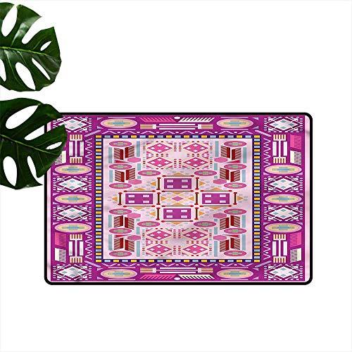 HOMEDD Funny Doormat,Afghan Traditional Afghan Motif,Super Absorbs Mud,35