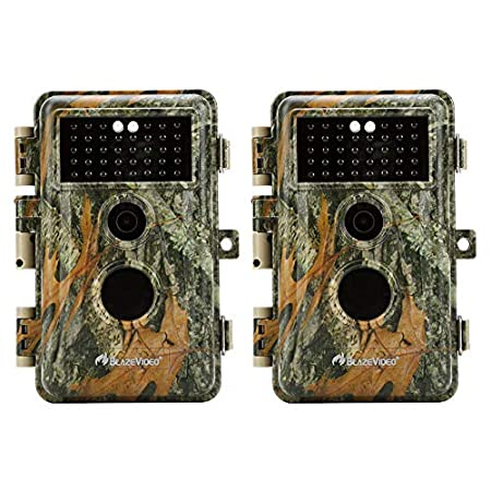 [Upgraded] BlazeVideo 16MP 1080P Game & Trail Camera No Glow & No Flash 38pcs Invisible Infrared IR LED IP66 Waterproof Wildlife Hunting Deer Camera 65Ft Night Vision 0.6s Trigger with 2.4 LCD, Photo and Video Model, PIR Motion Activated Sensor, An