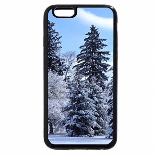 iPhone 6S / iPhone 6 Case (Black) Large Evergreens