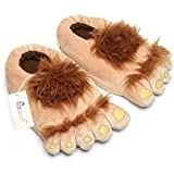 Ibeauti Furry Monster Adventure Slippers, Comfortable Novelty Warm Winter Hobbit Feet Slippers for Adults