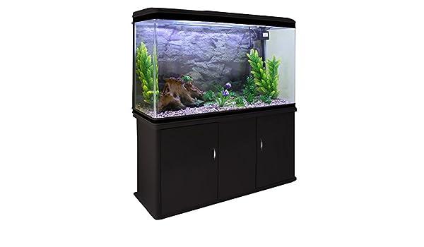 MonsterShop Tanque de Peces para Acuario y gabinete con Kit de Inicio Completo - Tanque Negro y Grava Natural: Amazon.es: Productos para mascotas