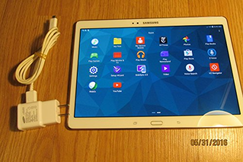 Samsung Galaxy Tab S 10.5-Inch 16GB (Verizon and GSM Unlocked) 4G LTE Android Tablet - Dazzling White
