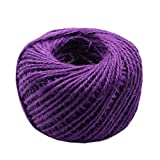 Hand Knitting Hemp Rope DIY Satin Ribbon Decorative Riband Twine I