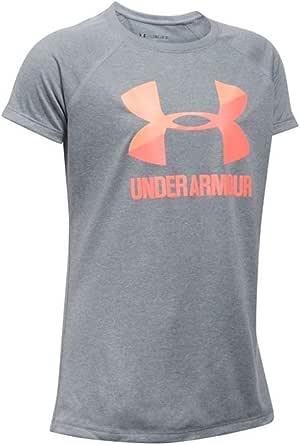 Under Armour UA de los niñas Solid Big Logo SS Camiseta de Manga Corta, niña, Color