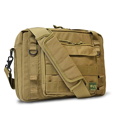 Skooba Design S-4 Laptop brief, Laptop bag, Messenger bag, Khaki (200002) (Laptop Bags Skooba)