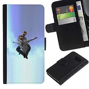 YiPhone /// Tirón de la caja Cartera de cuero con ranuras para tarjetas - Idiota en el cielo - Sony Xperia Z3 Compact