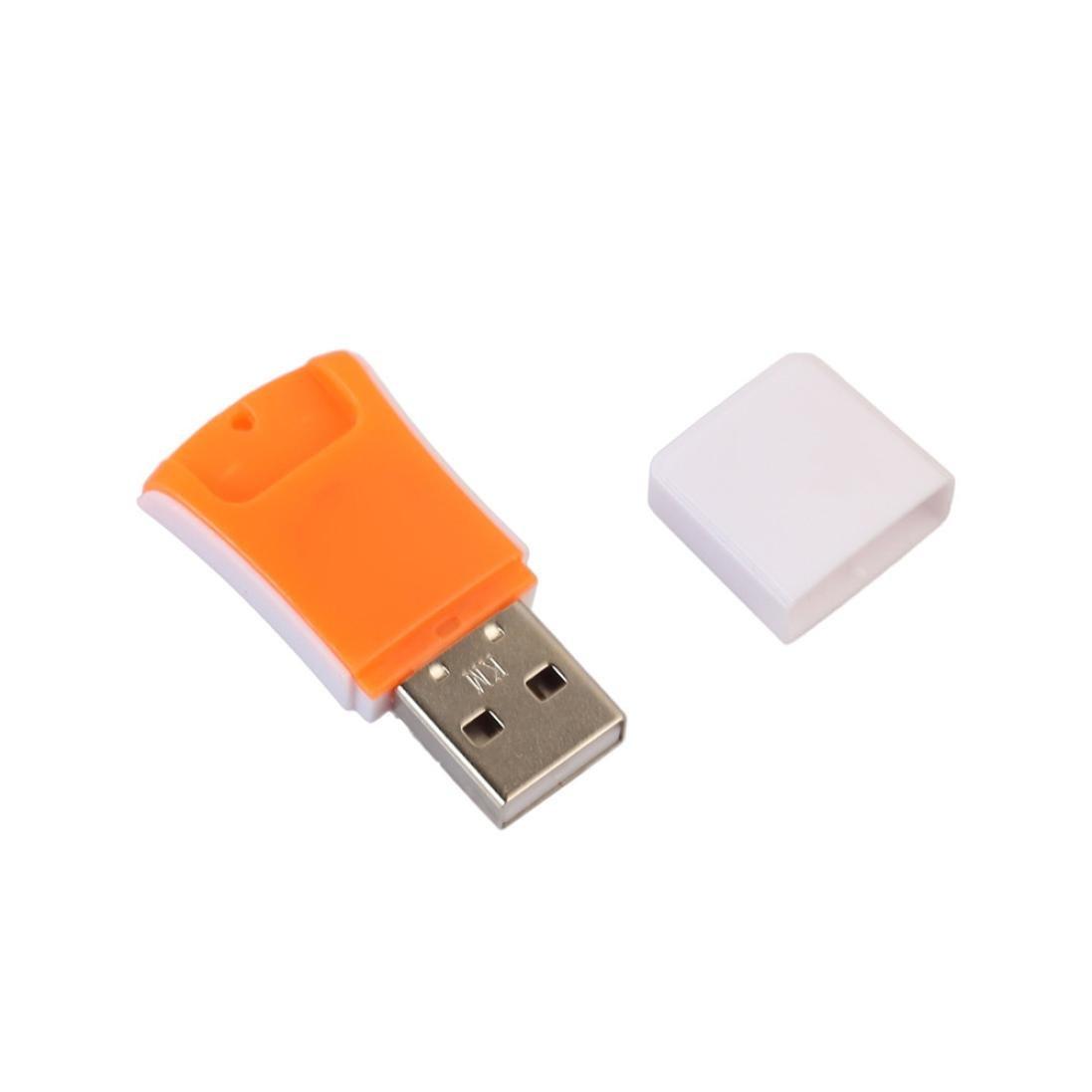 Dreamyth New Micro USB 2.0 Mini Card Reader Reader SD TF T-Flash High Speed Portable (yellow)