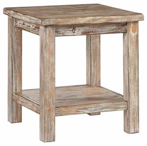Ashley Furniture Signature Design - Vintage Chair Side End Table - Rustic (Brown Natural Coffee Table)