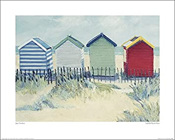 El Arte Grupo Jane Hewlett (Suffolk) de casetas de Playa - Lámina Decorativa (40 x 50 cm, Papel,, 40 x 50 x 1,3 cm): Amazon.es: Hogar
