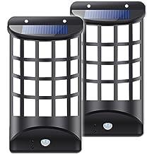 Solar Lights Outdoor, Solar Motion Sensor Night Lights Wireless Weatherproof Security Light for Garden, Loft, Indoor, Outdoor, Fence, Deck, Patio(2 Pack)