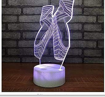 Zapatillas de ballet 3D Luz de noche Led Luces coloridas de Led ...