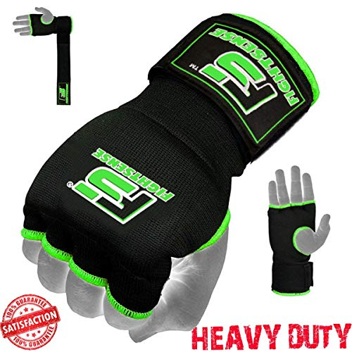 FIGHTSENSE Gel Padded Inner Gloves with Long Wraps for Boxing MMA Wrist Hand Wraps Muay Thai Bandages Under Gloves Training Pair