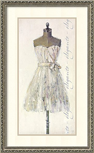 Framed Art Print, Elegante (Elegant)' by Leila: Outer Size 19 x 31
