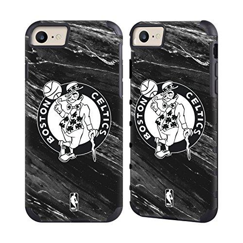 Official NBA B&W Marble Boston Celtics Gold Gripper Case for Apple iPhone 7 / iPhone 8 (Snap Boston Celtics)