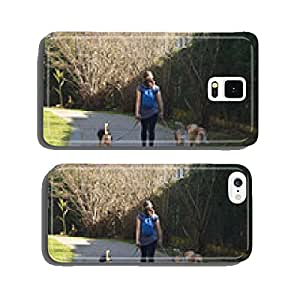 woman walking dogs cell phone cover case iPhone6