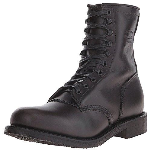 (Chippewa Men's Whirlwind Service Boot Round Toe Black 9 D(M))