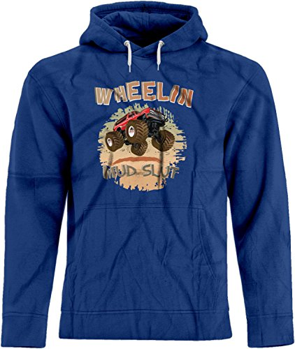 BSW Men's Wheelin Mud Slut Mudding 4x4 Truck Premium Hoodie 3XL Royal -