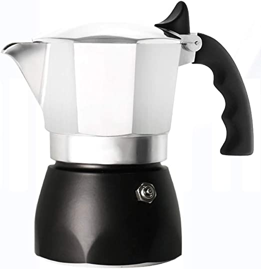 Cafetera Espresso Moka Pot Coffee Pot de Doble válvula de Alta ...
