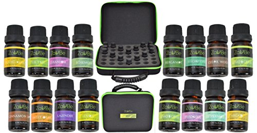 FLASH-SALE-16-Essential-Oil-Set-with-FREE-42-Holes-EVA-Case-Diffuser-Aromatherapy-100-Therapeutic-Grade-Ylang-Ylang-Lemon-Bergamot-Lavender-Peppermint-Tea-Tree-Argan-Rosemary-frankincense