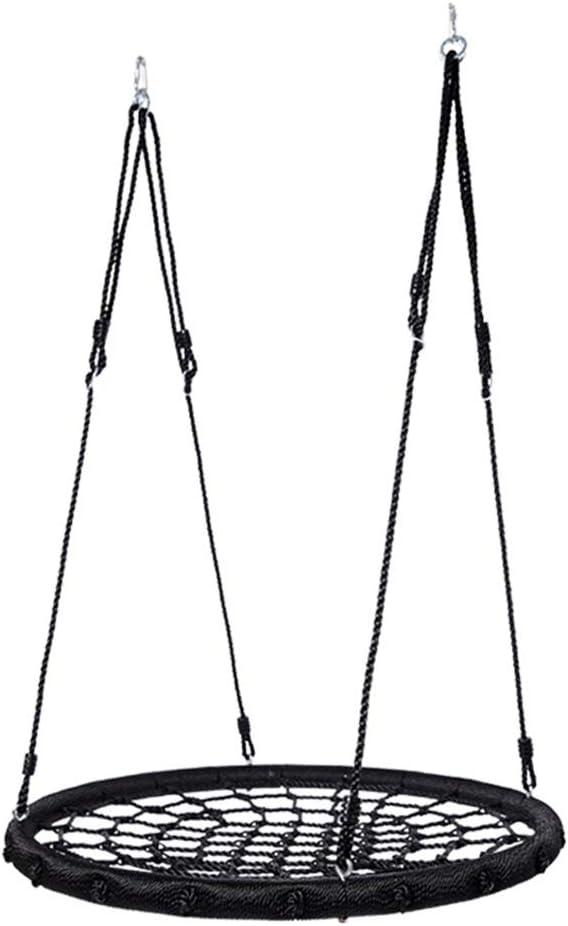 子供のスイング ツリースイング、ハンギングストラップキット付き屋外スイング、遊び場スイングに最適な直径40インチ、裏庭 室内おもちゃの子供のスイング (色 : ブラック, サイズ : Diameter 100cm)