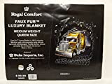 Regal Comfort Unstoppable Semi Truck Plush Throw Blanket Queen 79 x 96