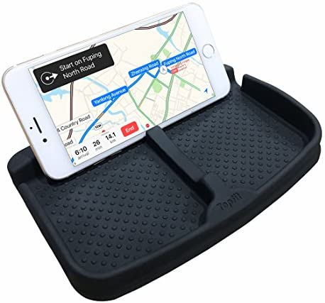 Anti-Slip Cell Phone Pad Universal for Car Dashboard Non-Slide Silicone Rubber Gel Mat Cell Phone Holder for Smartphone X/8/7 Plus Galaxy Note 8 S9 S8 Plus or GPS Devices Sunglasses Cards Coins