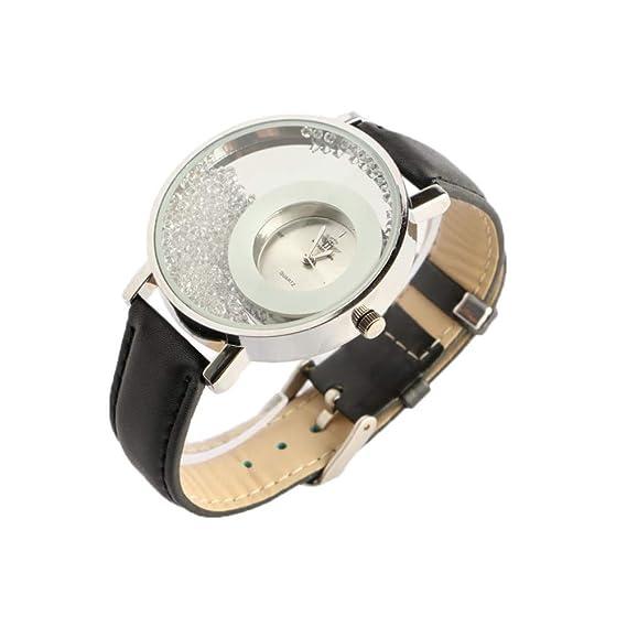Reloj Mujer Plata y pedrería Pulsera Negro precya – Mujer